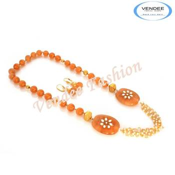 New trends 2013 Semi precious Stone necklace sets (7020)