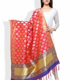 Buy Banarasi Dupatta By Ravechi Fab (Rani Pink and Royal Blue) stole-and-dupatta online