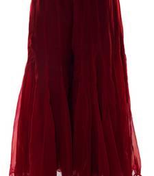 Buy Maroon plain chiffon fabric free size palazzo pants palazzo-pant online