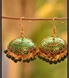 Buy Handcrafted meenakari jhumka navratri-jewellery online