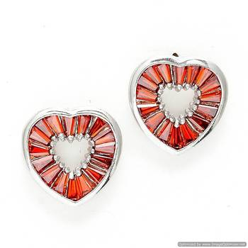 Bohemian Heart shaped Crystal Earrings