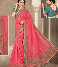 Buy Peach hand woven chanderi silk saree with blouse chanderi-saree online