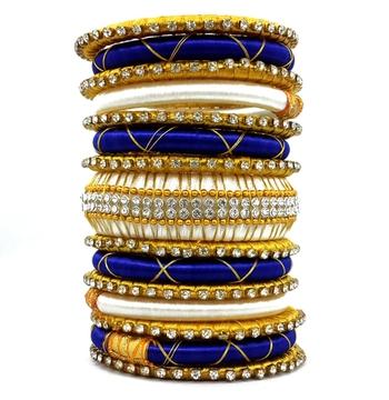 Traditional multicolor silk thread bangle 2.6 (15 pcs)