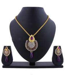 Buy Purple diamond pendants Pendant online