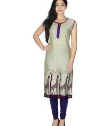 Buy Purple printed rayon kurtis kurtas-and-kurti online