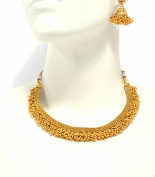 Buy Copper Traditional Gold Plated Pearl beaded necklace set for women  and  Girls necklace-set online