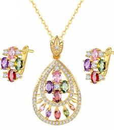 Buy Multicolor swarovski crystal pendants Pendant online