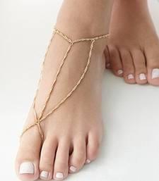 Buy Gold chains triangle ankle bracelet anklet online