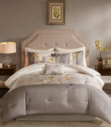 Buy multicolor satin and cotton embroidered duvet-covers duvet-cover online