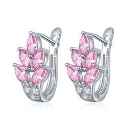 Buy Pink swarovski crystal earrings Earring online