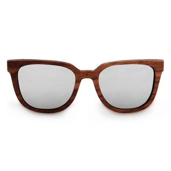 Luciano - Silver Wooden Sunglasses