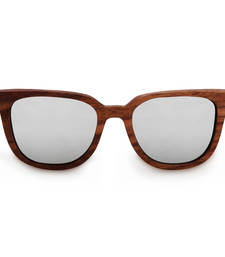 Buy Luciano - Silver Wooden Sunglasses sunglass online