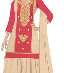 Buy Multicolor embroidered cotton salwar with dupatta salwar-kameez-below-2000 online