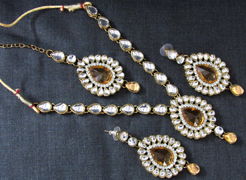 Brown diamond necklace-sets
