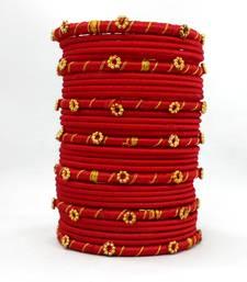 Buy handmade RED Silk thread bangle 2.6 (31 PCS) bangles-and-bracelet online