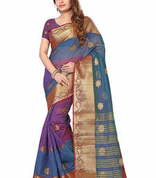 Buy Purple woven art silk saree with blouse kota-silk-saree online