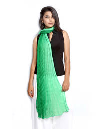 Buy Green Chiffon stole and dupattas stole-and-dupatta online