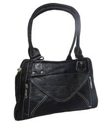 Buy Black P.U plain handbags handbag online