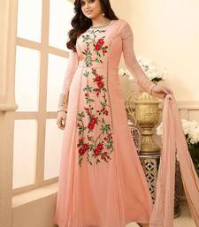 Buy Pink embroidered georgette salwar with dupatta salwar-kameez-below-2000 online