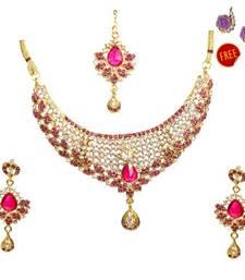 Buy Multicolor Diamond jewellery gemstone-necklaces gemstone-necklace online