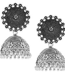 Buy Statement Antique Plated Oxidized German Silver Jaipur Jhumki Earring For Girls Women jhumka online