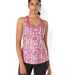 Buy Coral Aztec workout gym wear Racerback Tee workout-gym-wear online