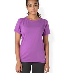Buy Purple workout gym wear Crew Neck Tee workout-gym-wear online