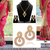 Pink embroidered georgette saree with blouse & free gift