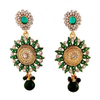 Ethnic Earrings in Austrain Diamonds