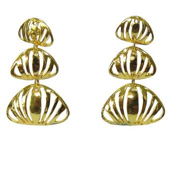 Contemporary gold plated earrings