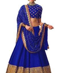 Buy Blue banglori silk embroidered lehenga with dupatta lehenga-below-2000 online