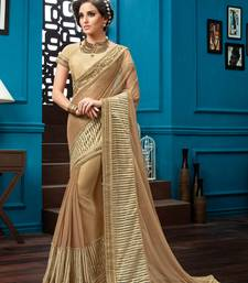 Buy Beige embroidered net saree with blouse great-indian-saree-festival online