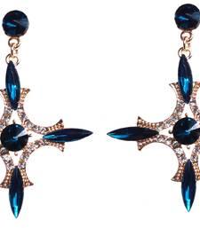 Buy Blue crystal earrings jewellery-below-500 online
