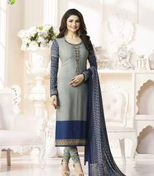 Buy Grey printed crepe salwar with dupatta fashion-deal online