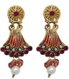 Buy Pink crystal earrings jewellery-below-300 online