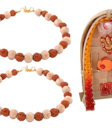 Buy Celebrations rakshabandhan special bracelet style rudraksh rakhi for brother rudraksha-rakhi online