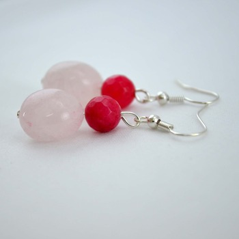Refreshing Baby Pink Danglers/Earrings