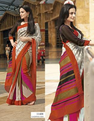 Styloce Multi Color Bhagalpuri Silk Saree-STY-106-11408