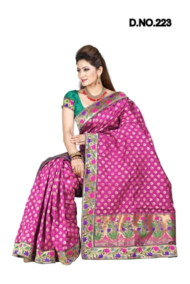 RANI ART SILK PARTY WERE SAREE WITH BLOUSE