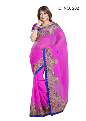 RANI FAUX CHIFFON PARTY WERE SAREE WITH BLOUSE