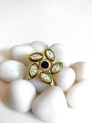 royal kundan and sapphire ring
