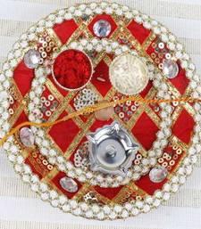 Buy multicolor rakhi-pooja-thali rakhi-pooja-thali online
