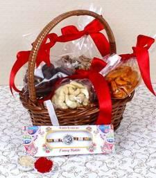 Buy Assorted Cashew with Om Rakhi rakhi-with-sweet online