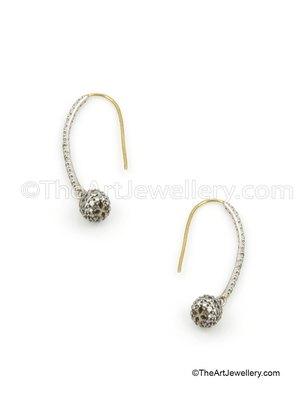 Clear Antique Victorian Hoop Earrings Jewellery for Women - Orniza