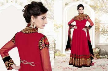 Styloce Red Color Designer Salwar Kameez .STY-103-401