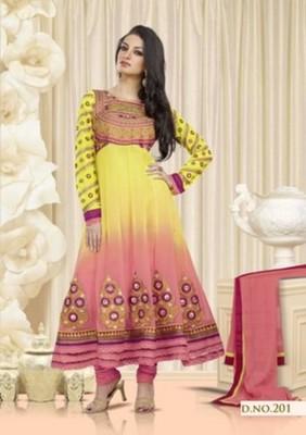 Styloce Yellow & Red Color Designer Salwar Kameez .STY-105-201
