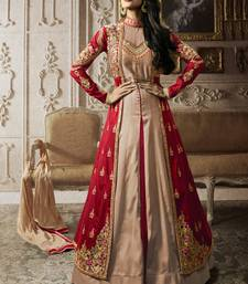 Buy Red multi resham work silk salwar with dupatta malaika-arora-khan online