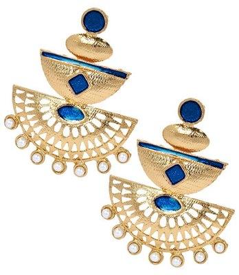 Amazing Blue Pearl Push-Back Drop Earrings