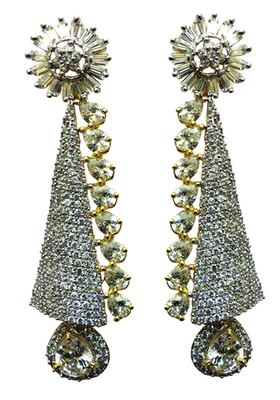 Vatika attractive white american diamond earring