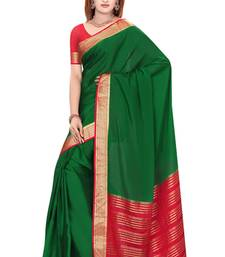 Buy Green  pure_crepe saree with blouse wedding-saree online